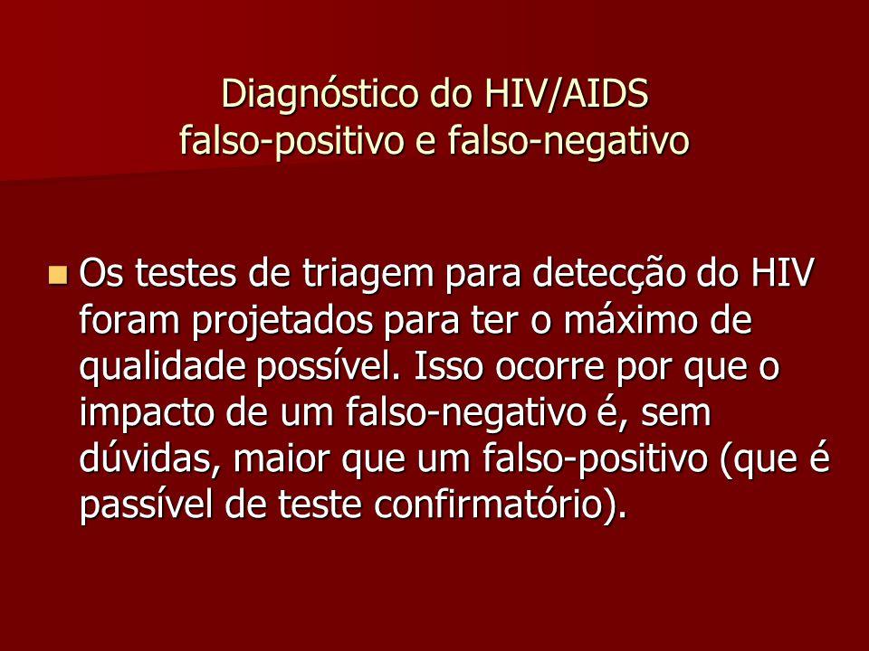 Diagnóstico do HIV/AIDS falso-positivo e falso-negativo  ELISA falso-negativo são raros, mas podem ocorrer quando existe pouca afinidade do anticorpo ou quando existem poucos anticorpos (infecção recente).