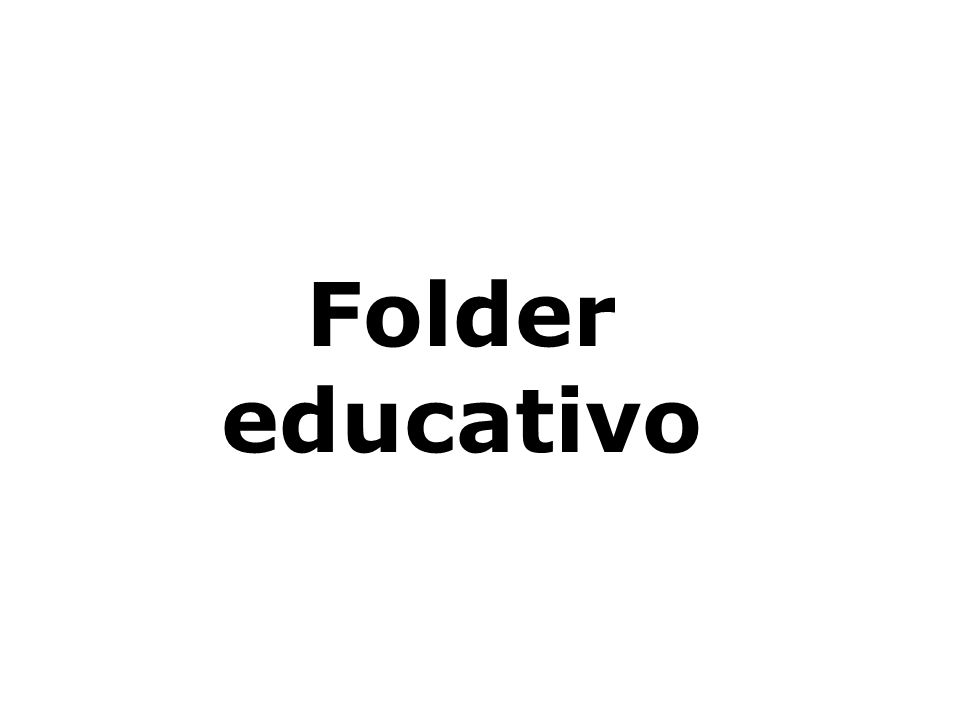 Folder educativo