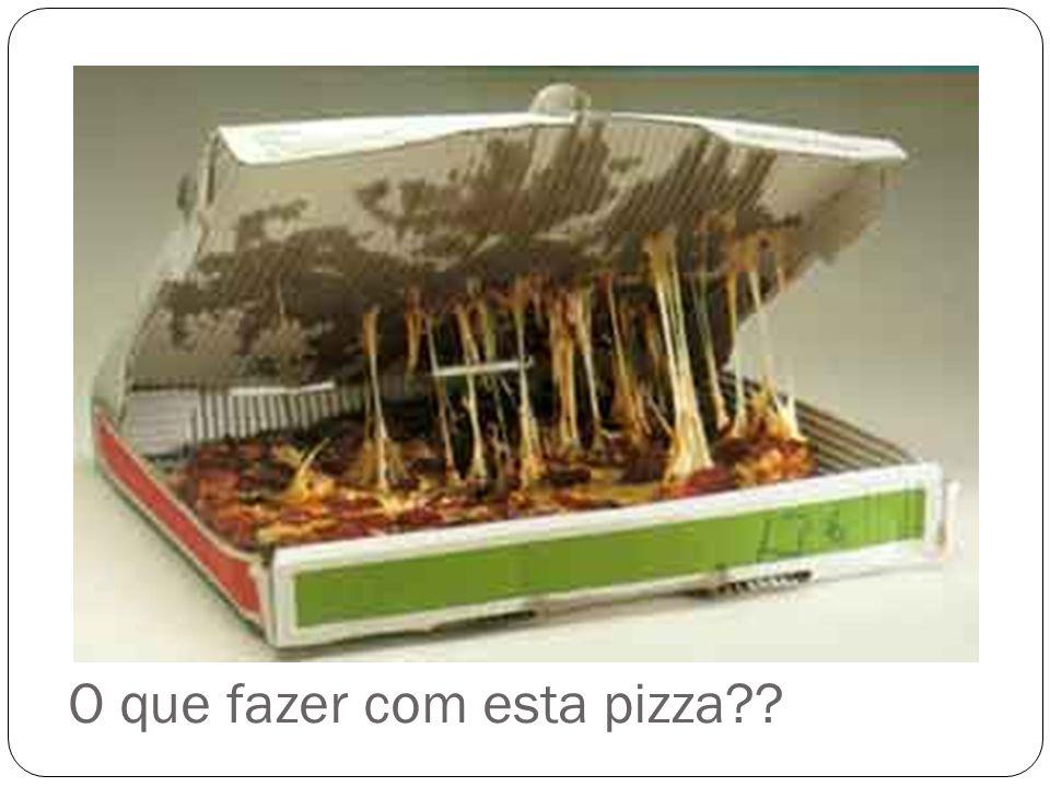 O que fazer com esta pizza??
