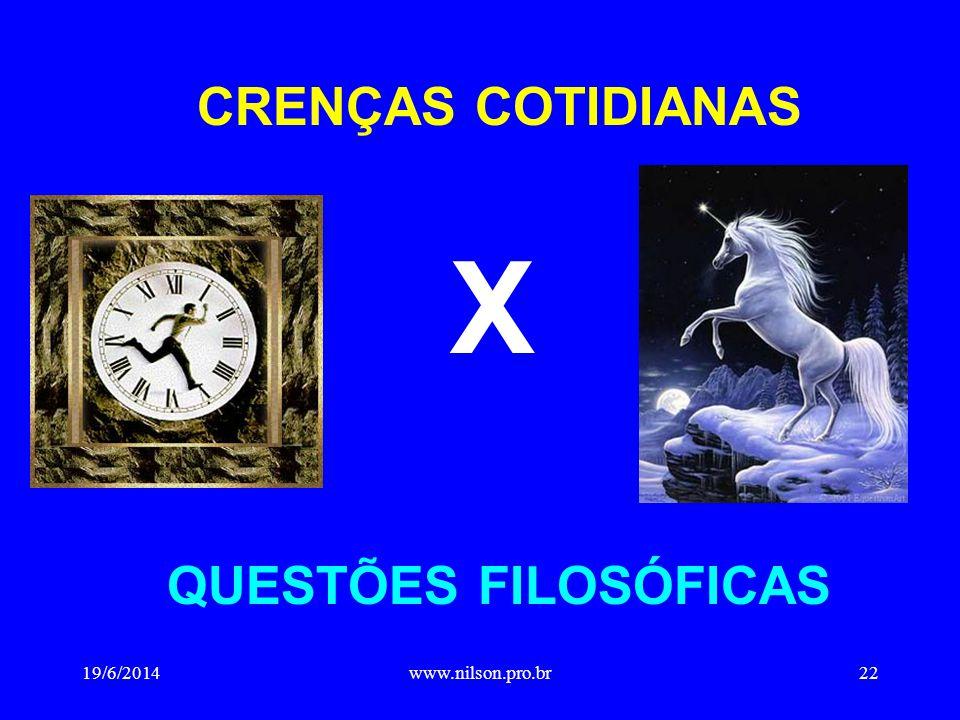 CRENÇAS COTIDIANAS X QUESTÕES FILOSÓFICAS 19/6/201422www.nilson.pro.br