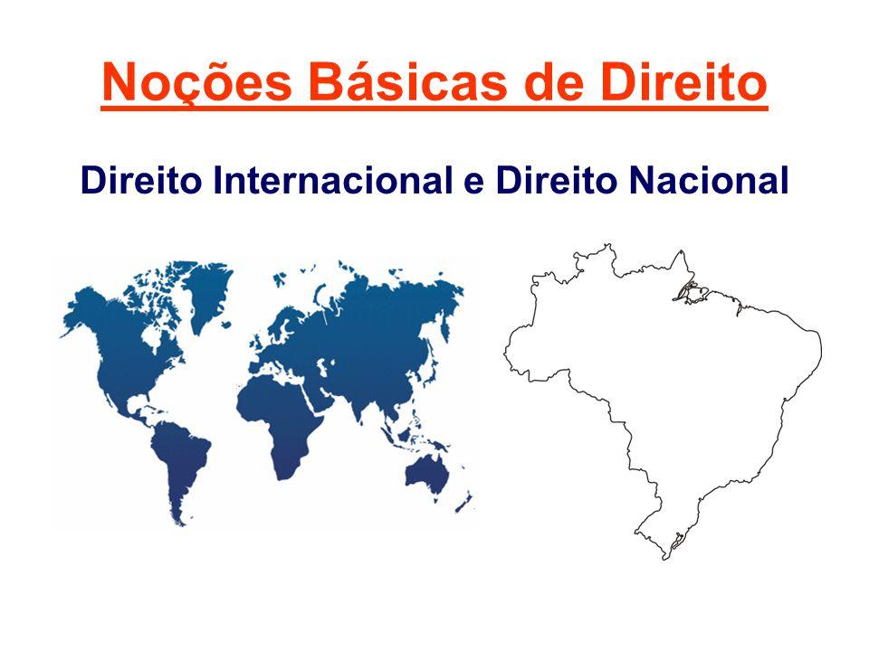 Noções Básicas de Direito Direito Internacional e Direito Nacional