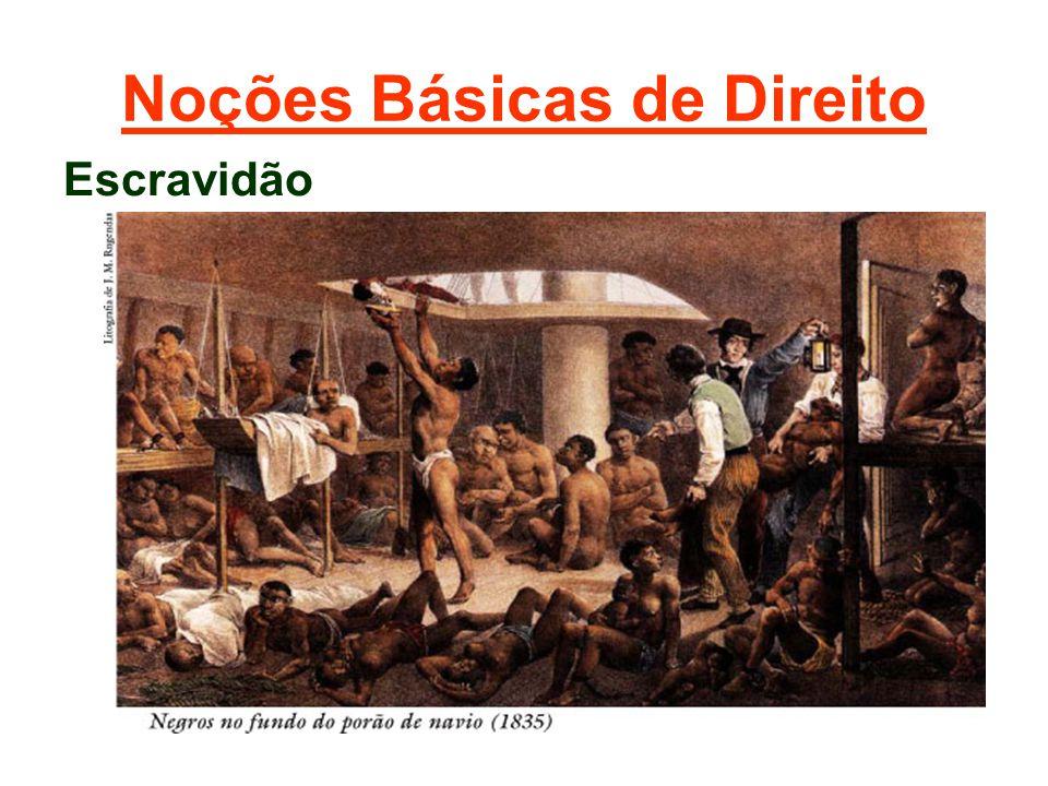 Noções Básicas de Direito Escravidão