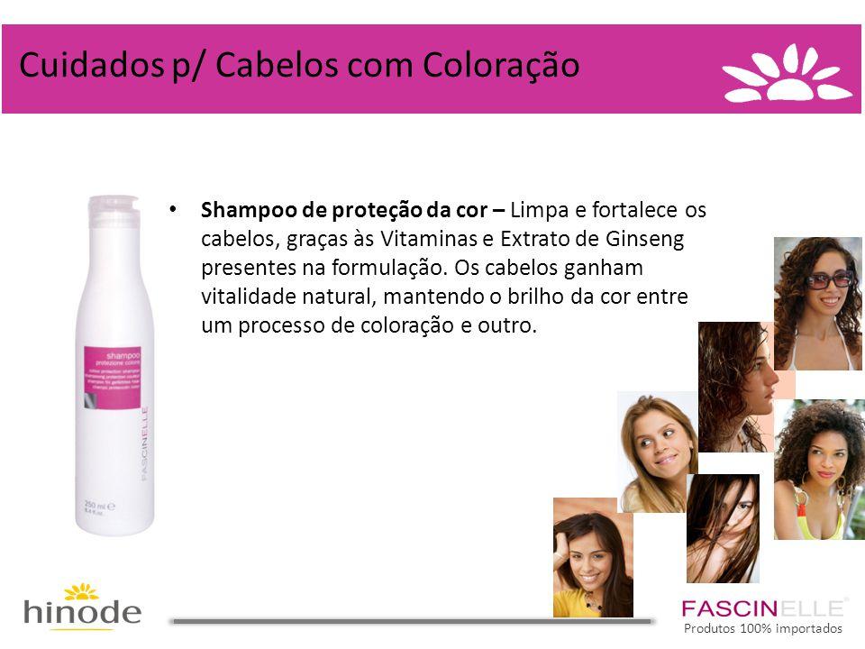 • Shampoo de proteção da cor – Limpa e fortalece os cabelos, graças às Vitaminas e Extrato de Ginseng presentes na formulação. Os cabelos ganham vital