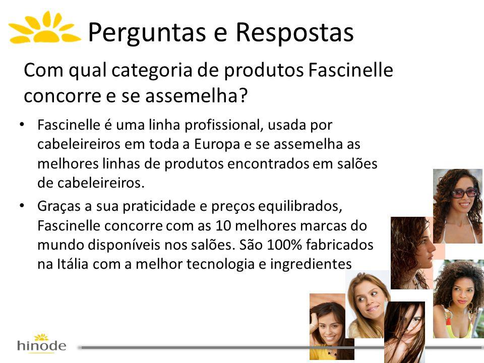 • Fascinelle é uma linha profissional, usada por cabeleireiros em toda a Europa e se assemelha as melhores linhas de produtos encontrados em salões de