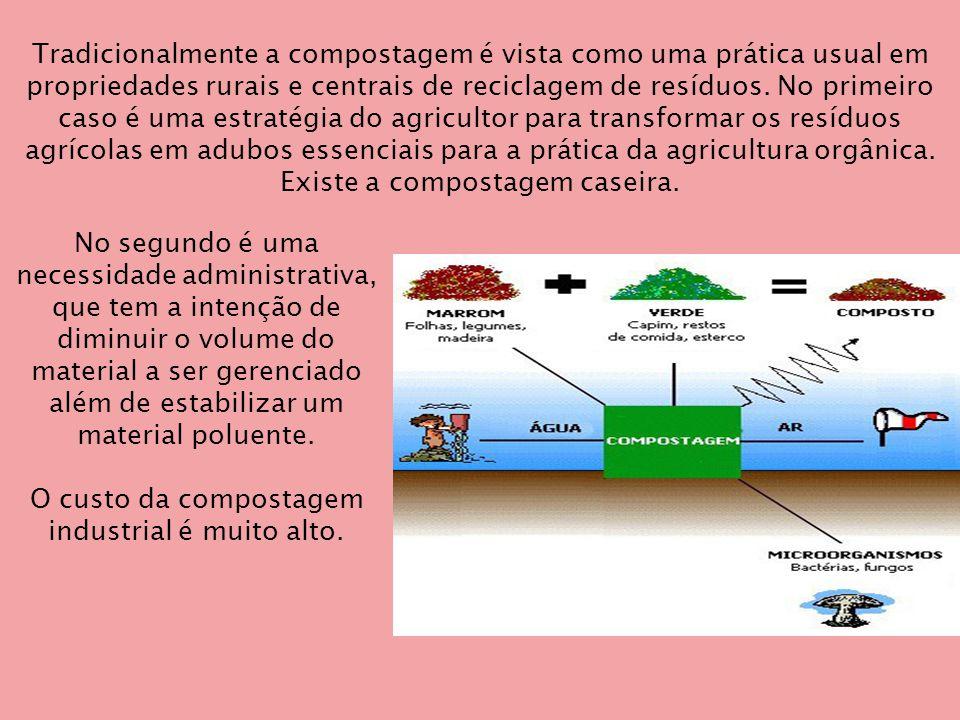 No segundo é uma necessidade administrativa, que tem a intenção de diminuir o volume do material a ser gerenciado além de estabilizar um material poluente.
