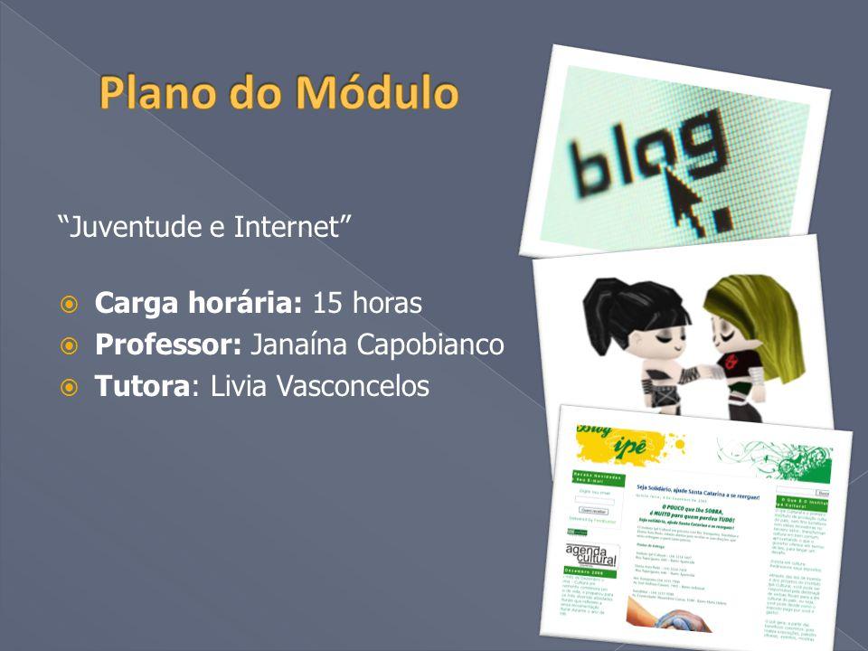  Promover a reflexão sobre os dados do acesso à internet no Brasil e sobre o perfil do jovem brasileiro que navega;  Promover a compreensão de conceitos sobre o universo hipertextual e a produção de conteúdo para o meio online;  Promover discussões que favoreçam o entendimento das ferramentas e opções de uso da internet;