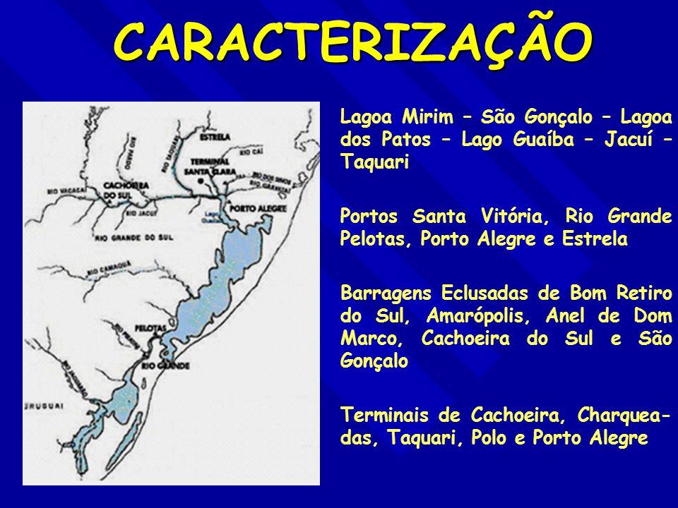 PORTO FLUVIAL DE ESTRELA CARACTERÍSTICAS PRINCIPAIS: - CALADO DE 3,20 m; - CAIS ACOSTÁVEL DE 585 m; - DOIS ARMAZÉNS GRANELEIROS; - UM SILO VERTICAL; - UM ARMAZÉM DE CARGA GERAL - ACESSO FERROVIÁRIO - EQUIPADO PARA CONTEINERES; - INSTALAÇÕES ALFANDEGADAS