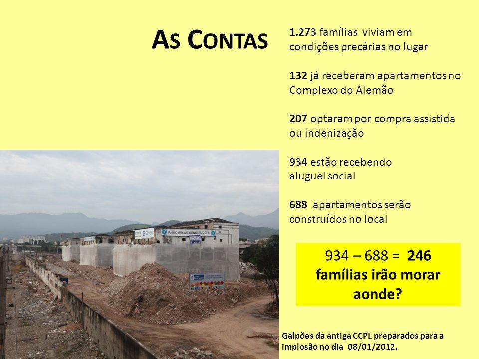Galpões da antiga CCPL preparados para a implosão no dia 08/01/2012. 1.273 famílias viviam em condições precárias no lugar 132 já receberam apartament