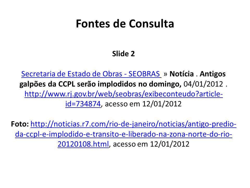 Fontes de Consulta Slide 2 Secretaria de Estado de Obras - SEOBRASSecretaria de Estado de Obras - SEOBRAS » Notícia.