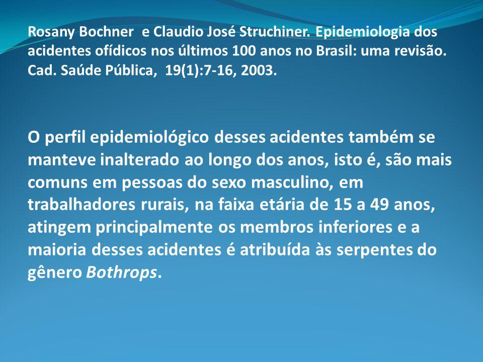 As alterações ambientais e as serpentes peçonhentas: Por que teríamos proporcionalmente, em algumas regiões do Estado de São Paulo, mais acidentes crotálicos que no restante do Brasil .