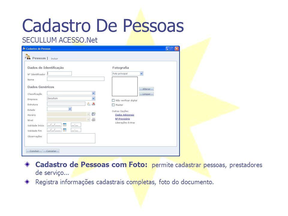 Objetivo SECULLUM ACESSO.NET O sistema Secullum Acesso.Net tem por finalidade controlar e gerenciar diversas situações relacionadas a segurança nas em