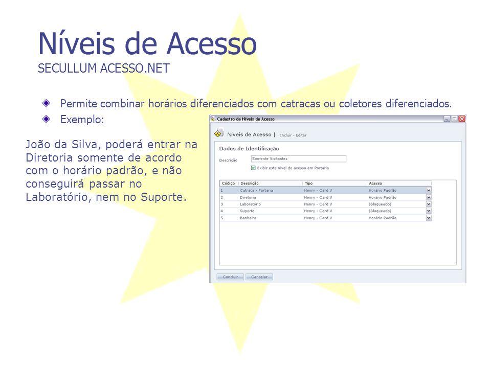 Características Gerais SECULLUM ACESSO.NET A estrutura atual do sistema está desenvolvida para suportar a maioria dos bancos de dados. Disponível nas