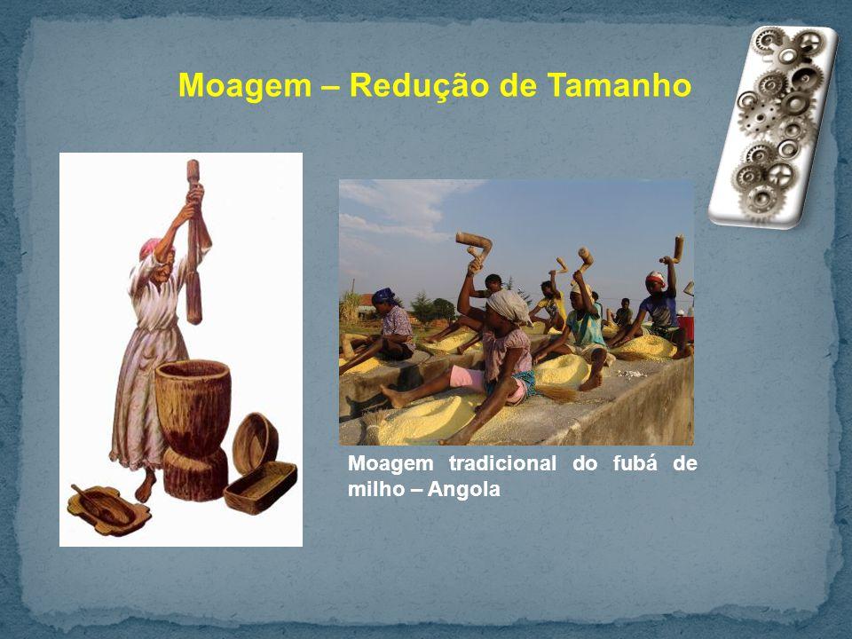 Moagem – Redução de Tamanho Moagem tradicional do fubá de milho – Angola