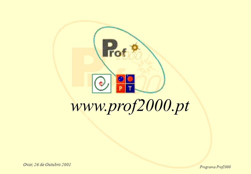 Programa Prof2000 Ovar, 26 de Outubro 2001 www.prof2000.pt