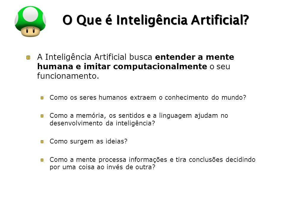 LOGO O Que é Inteligência Artificial? A Inteligência Artificial busca entender a mente humana e imitar computacionalmente o seu funcionamento. Como os