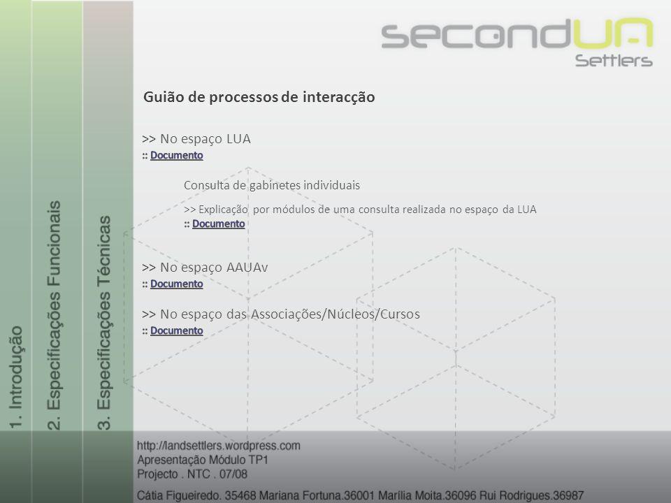 Guião de processos de interacção