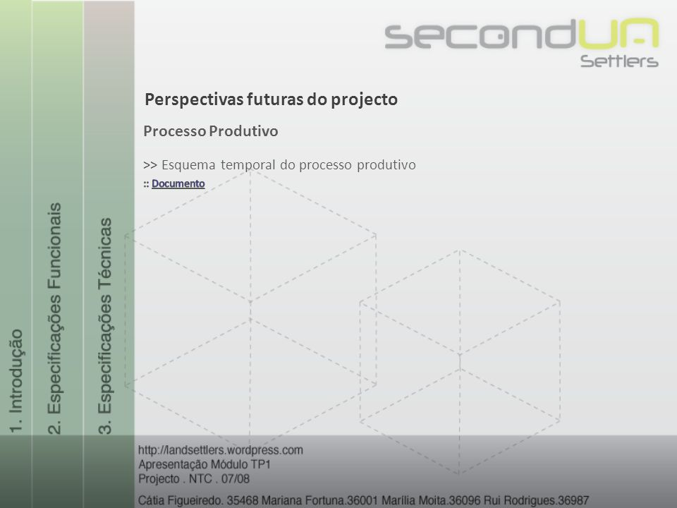Perspectivas futuras do projecto