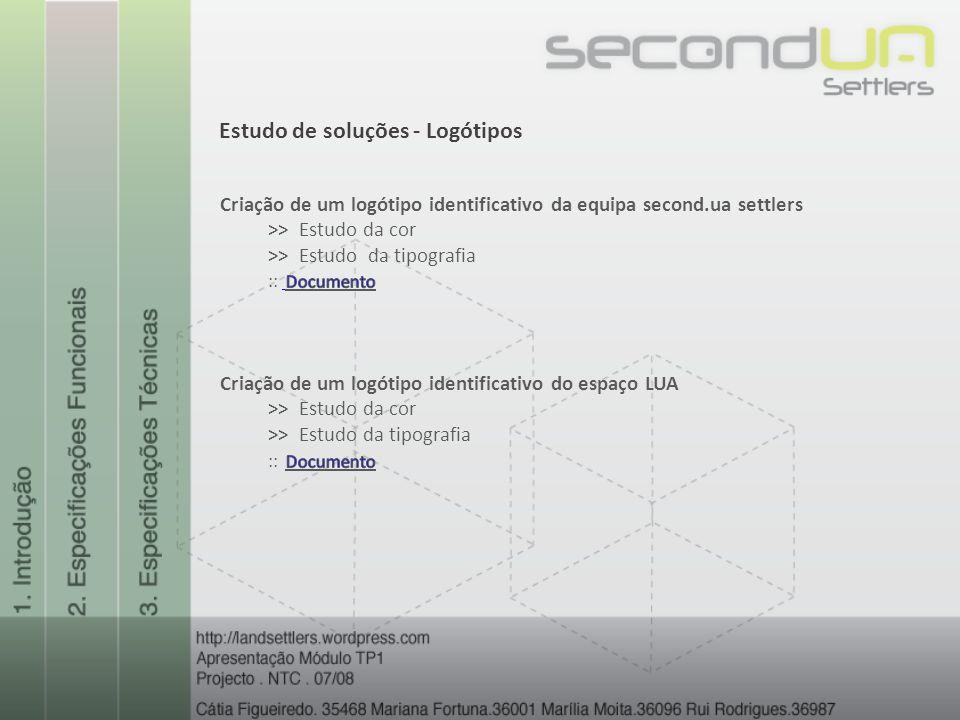 Estudo de soluções - Logótipos