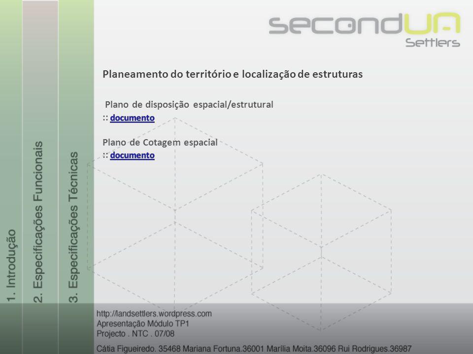 Planeamento do território e localização de estruturas
