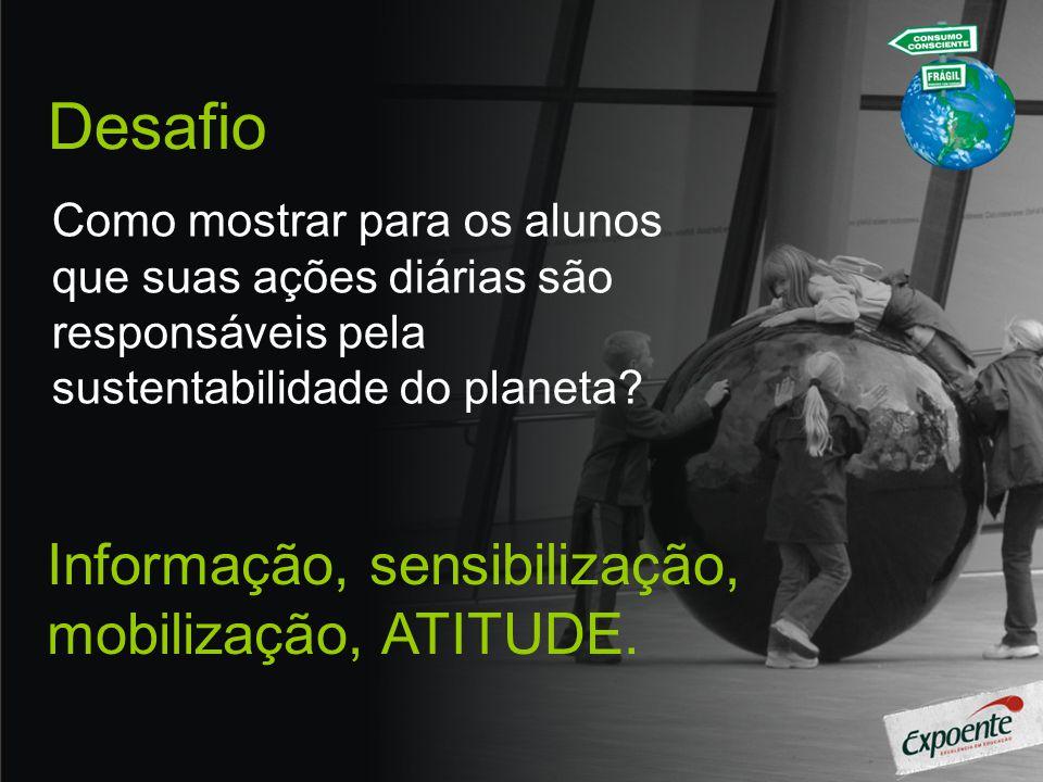 Desafio Como mostrar para os alunos que suas ações diárias são responsáveis pela sustentabilidade do planeta.