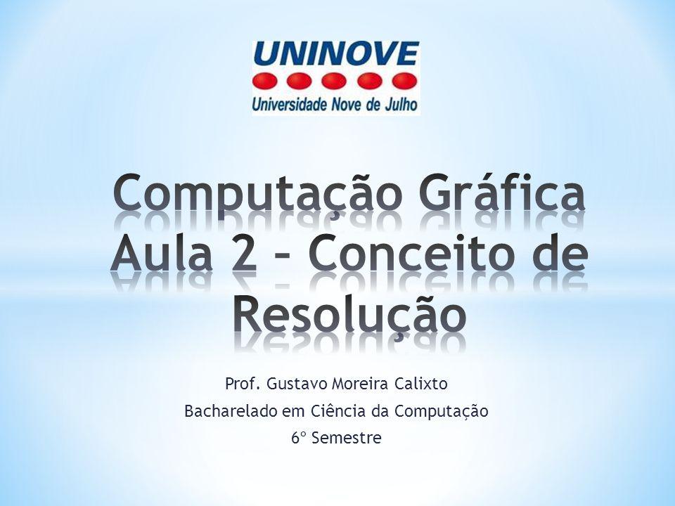 Prof. Gustavo Moreira Calixto Bacharelado em Ciência da Computação 6º Semestre