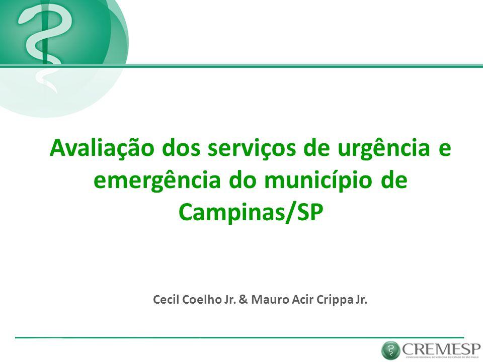 Avaliação dos serviços de urgência e emergência do município de Campinas/SP Cecil Coelho Jr. & Mauro Acir Crippa Jr.