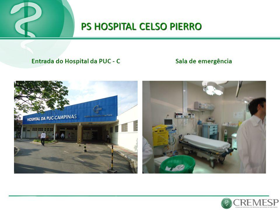 PS HOSPITAL CELSO PIERRO PS HOSPITAL CELSO PIERRO Entrada do Hospital da PUC - CSala de emergência