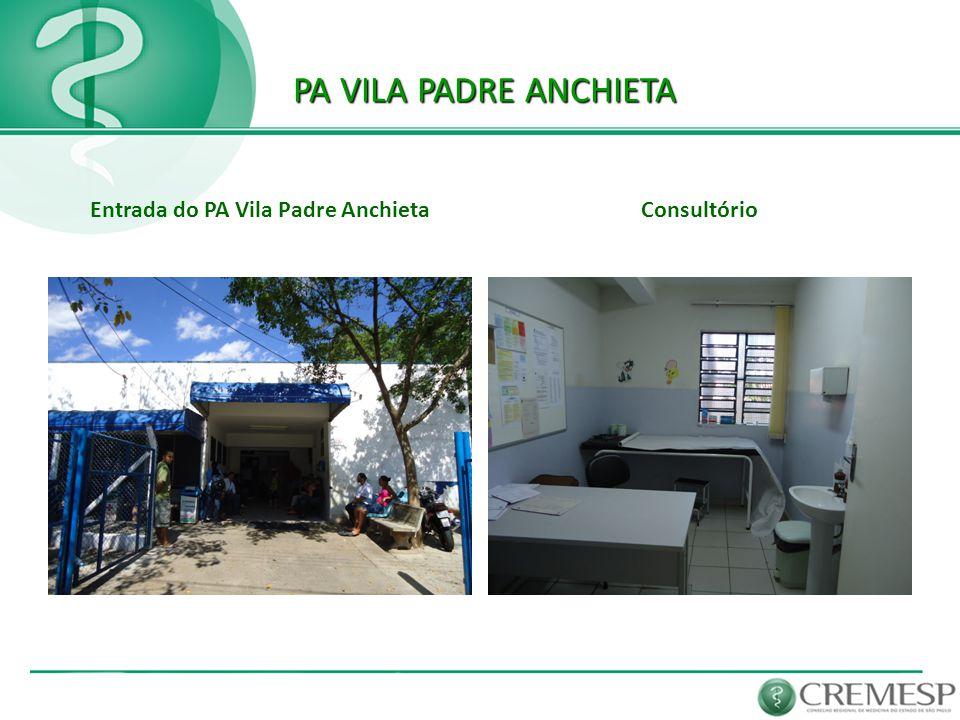 PA VILA PADRE ANCHIETA PA VILA PADRE ANCHIETA Entrada do PA Vila Padre AnchietaConsultório
