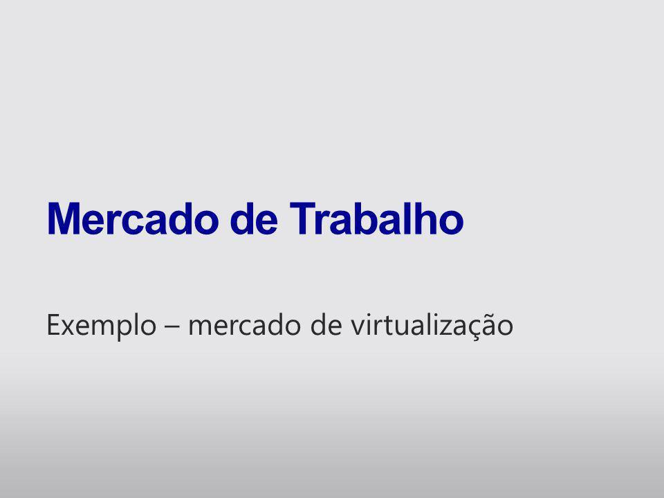 Mercado de Software Fonte: Gartner for Business Leadres 2010 Virtualização é prioridade nas empresas