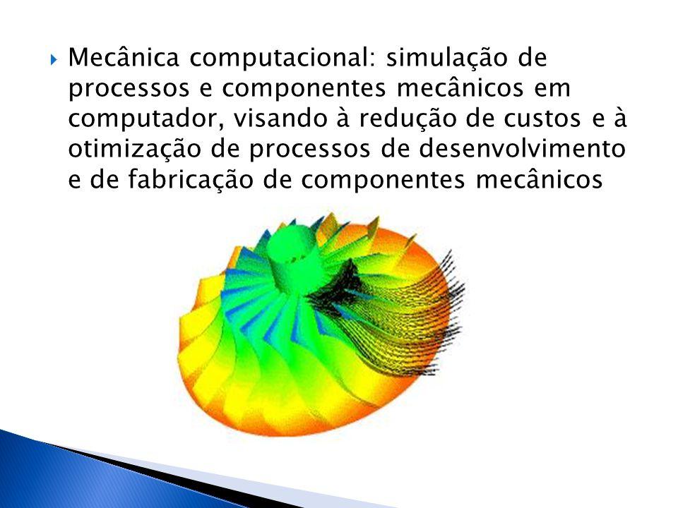  Mecânica computacional: simulação de processos e componentes mecânicos em computador, visando à redução de custos e à otimização de processos de des