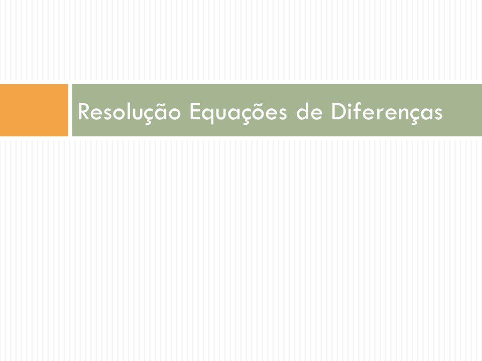 Resolução Equações de Diferenças