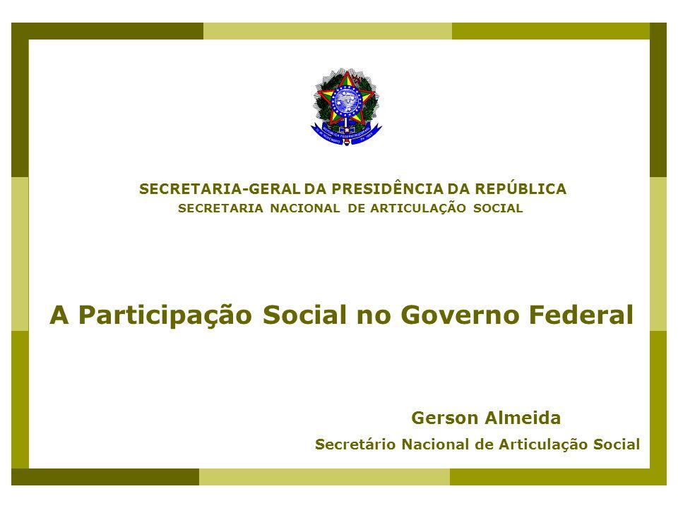1.VISÕES DE DEMOCRACIA 2. DESAFIOS DA PARTICIPAÇÃO 3.