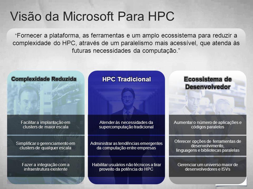 """"""" Fornecer a plataforma, as ferramentas e um amplo ecossistema para reduzir a complexidade do HPC, através de um paralelismo mais acessível, que atend"""