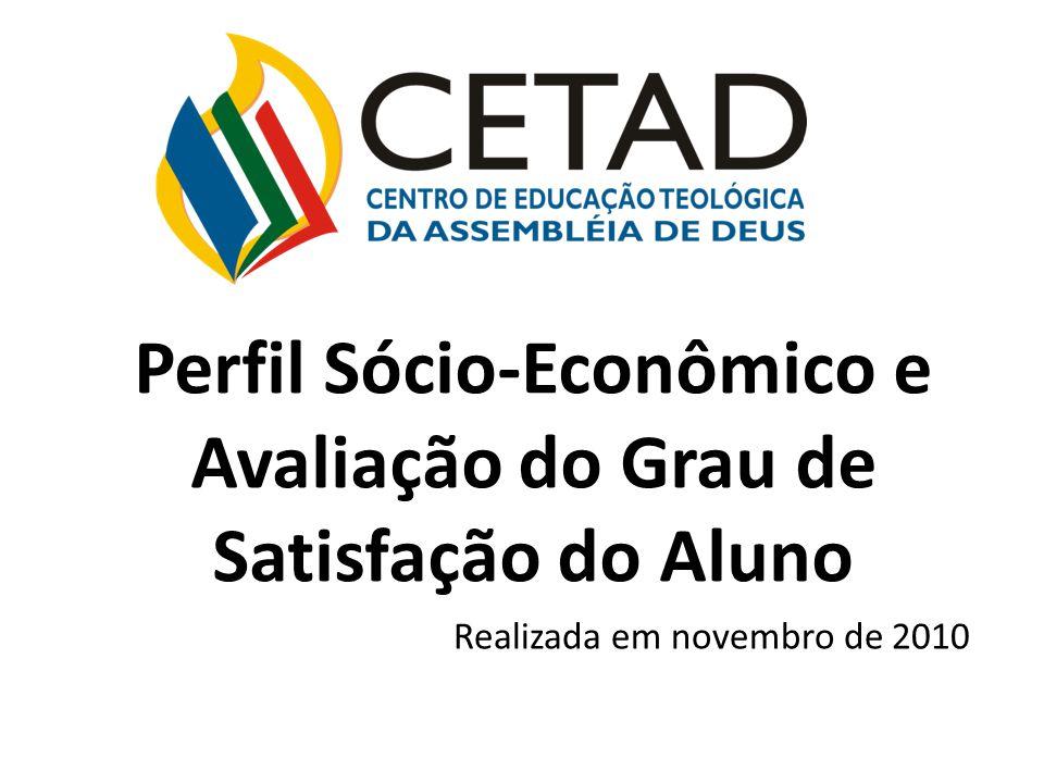 Perfil Sócio-Econômico e Avaliação do Grau de Satisfação do Aluno Realizada em novembro de 2010