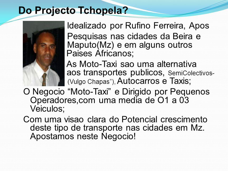 Do Projecto Tchopela?  Idealizado por Rufino Ferreira, Apos  Apos es Pesquisas nas cidades da Beira e Mapu M Maputo(Mz) e em alguns outros Paises Pa