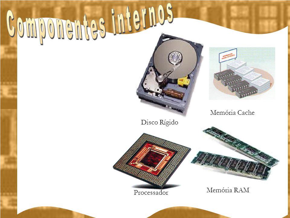Memória RAM Disco Rígido Processador Memória Cache
