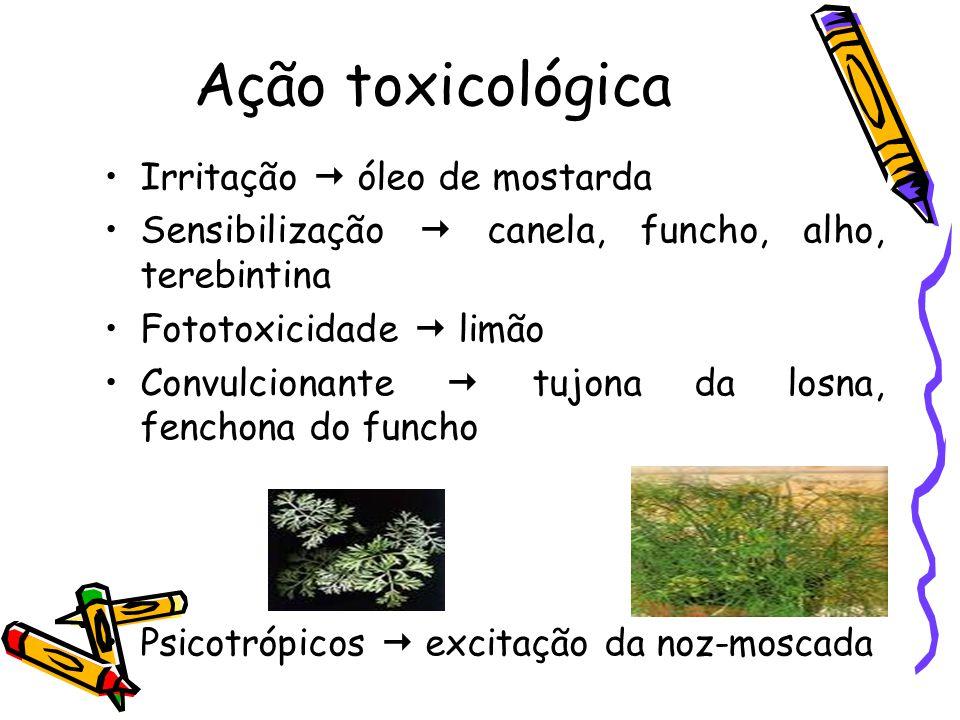 Extração: •1 - Enfloração ou enfleurage: é usado para extração de pétalas de flores (laranjeiras, rosas) para indústria de perfumes.