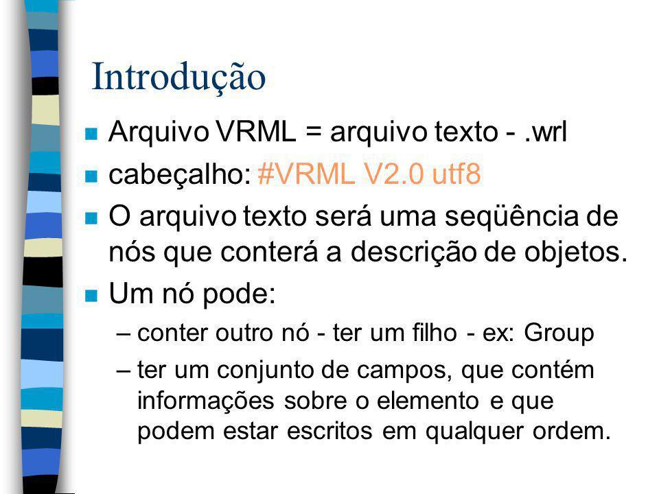 Introdução - Por que a emoção? n VMRL tem o potencial de permitir um novo tipo de aplicações - baseadas na WEB com simulação distribuída, multiusuário