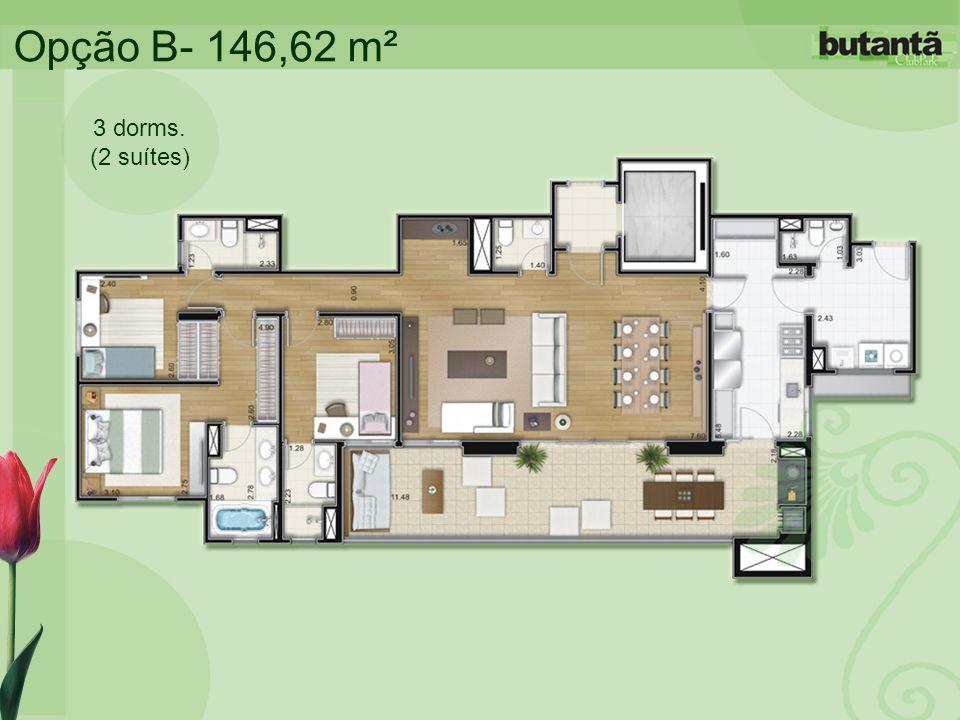 Opção B- 146,62 m² 3 dorms. (2 suítes)