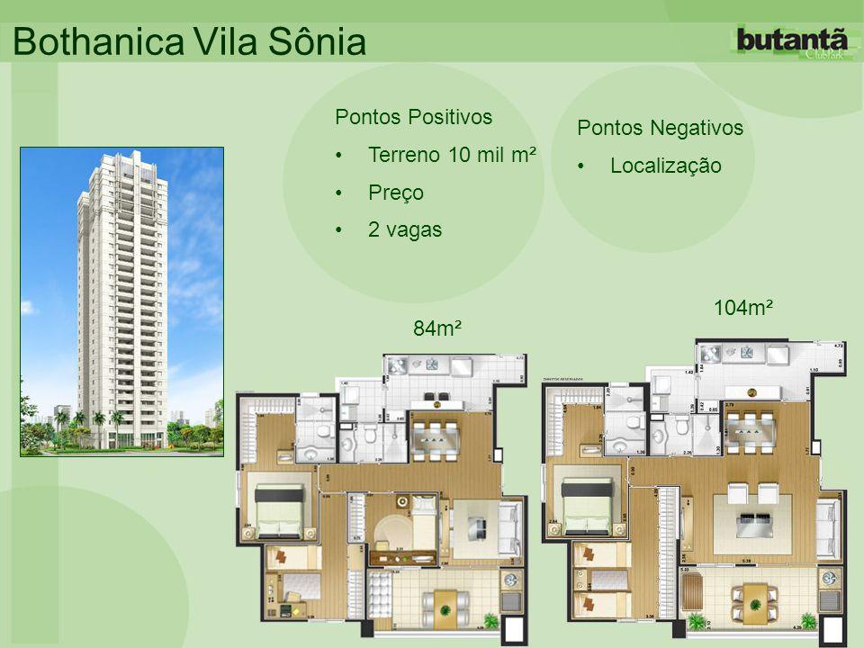 Bothanica Vila Sônia Pontos Positivos •Terreno 10 mil m² •Preço •2 vagas Pontos Negativos •Localização 84m² 104m²