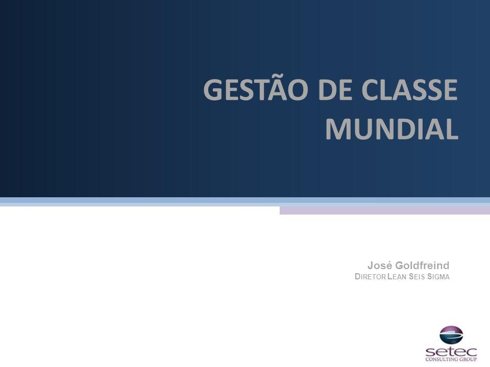 GESTÃO DE CLASSE MUNDIAL José Goldfreind D IRETOR L EAN S EIS S IGMA