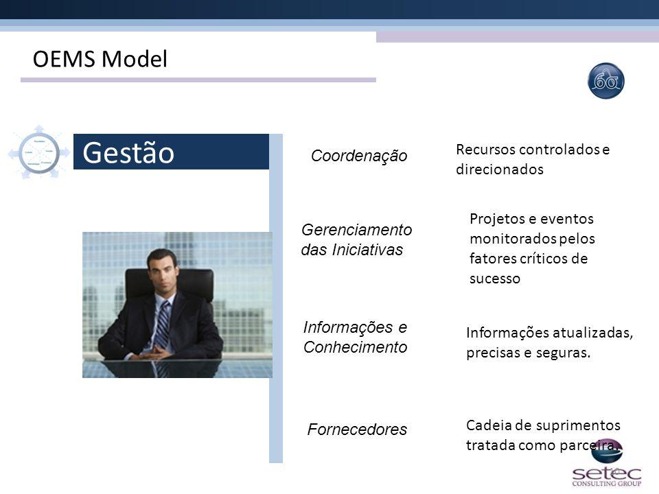 10 Coordenação Gestão Gerenciamento das Iniciativas Informações e Conhecimento Fornecedores Recursos controlados e direcionados Projetos e eventos mon