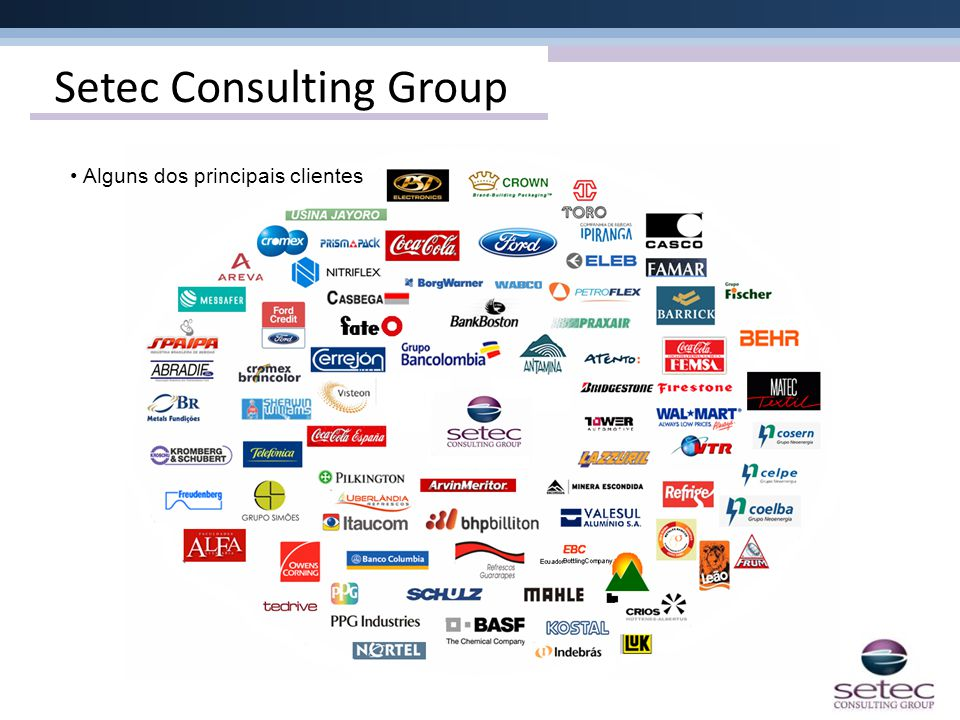 Setec Consulting Group • Alguns dos principais clientes