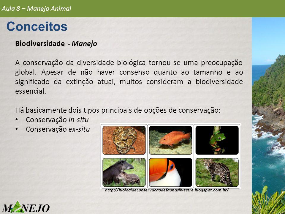 Biodiversidade - Manejo A conservação da diversidade biológica tornou-se uma preocupação global. Apesar de não haver consenso quanto ao tamanho e ao s