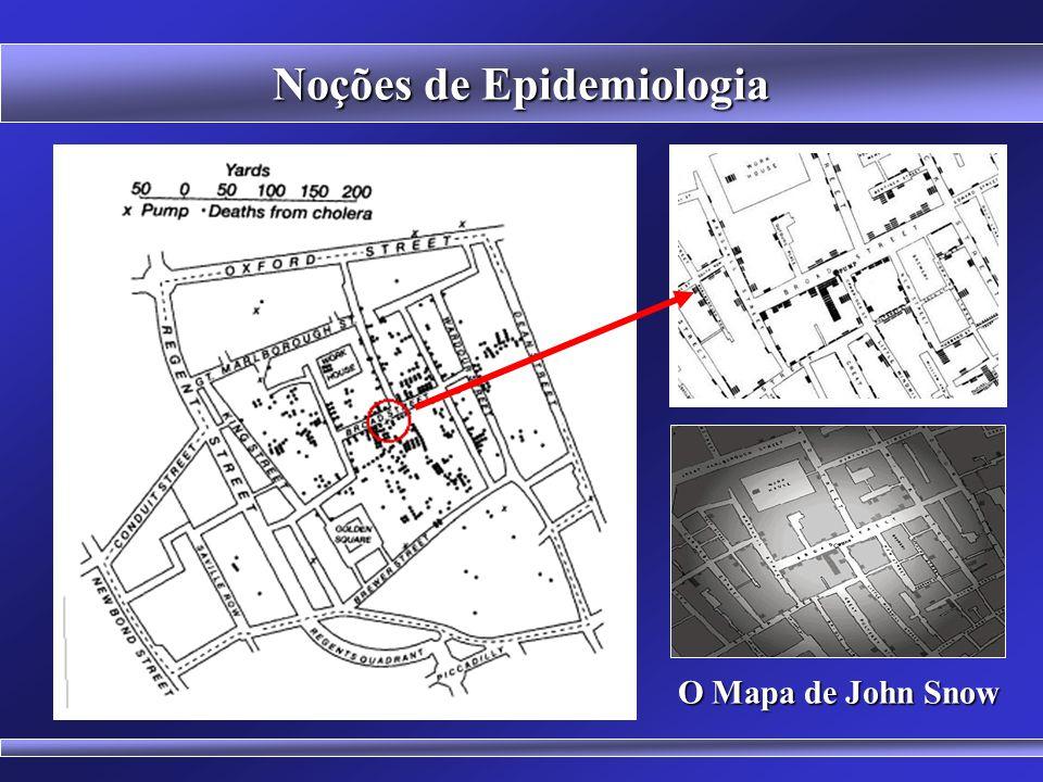 MAP OF LONDON WATERWORKS, 1856 Noções de Epidemiologia