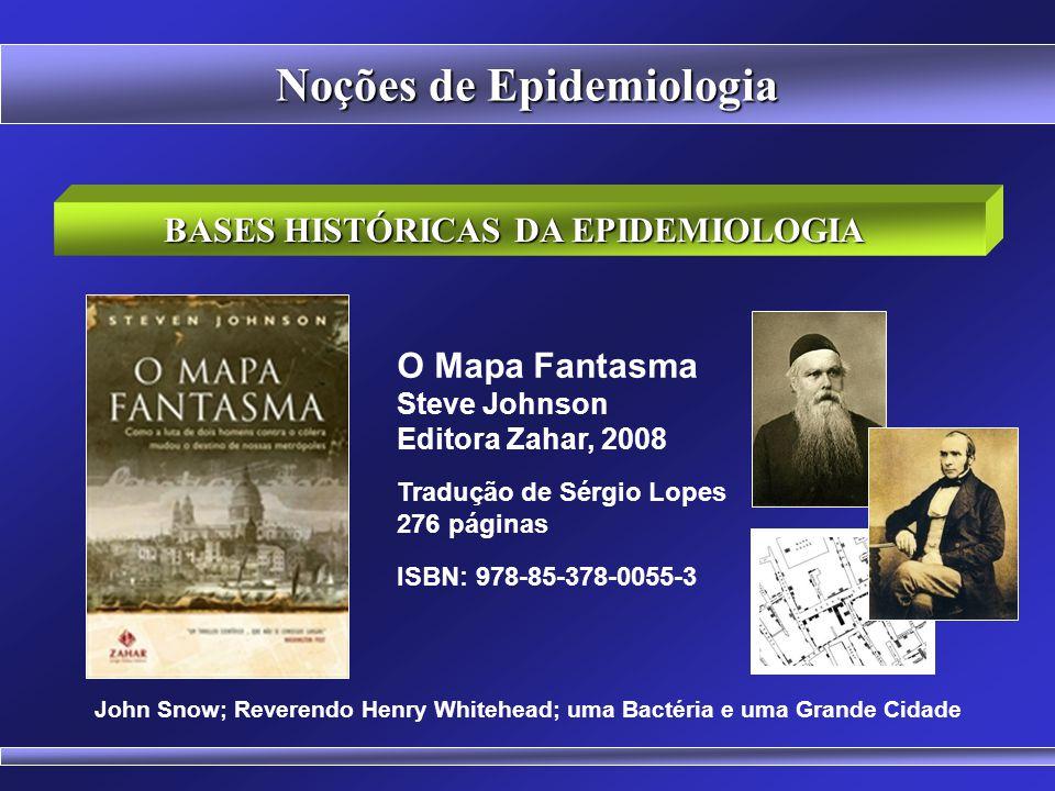 BASES HISTÓRICAS DA EPIDEMIOLOGIA Noções de Epidemiologia John Snow