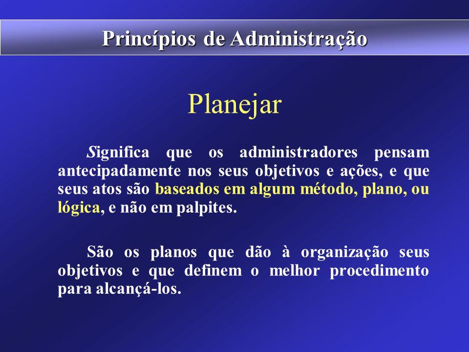 """Conceito de Administração """"A administração é o processo de planejar, organizar, liderar e controlar os esforços realizados pelos membros da organizaçã"""