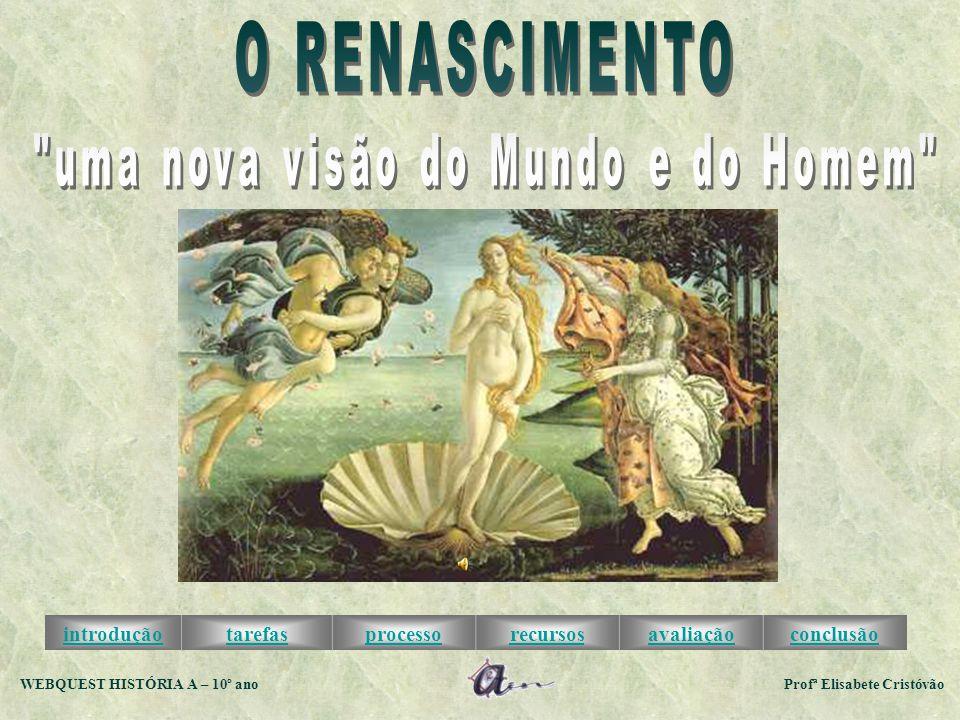 introduçãotarefasprocessorecursosavaliaçãoconclusão WEBQUEST HISTÓRIA A – 10º ano Profª Elisabete Cristóvão