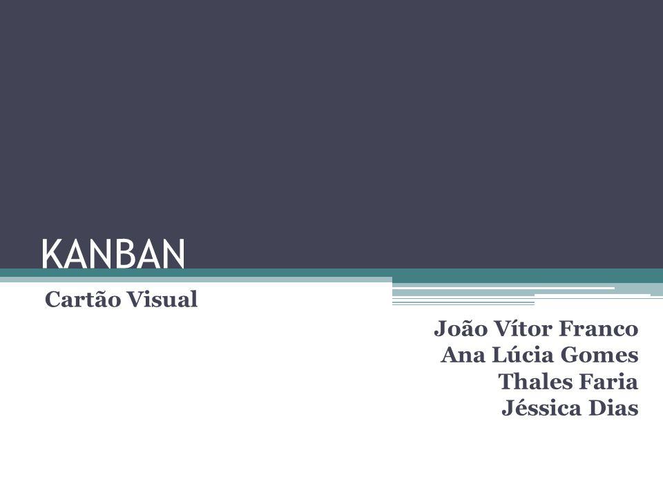 KANBAN Cartão Visual João Vítor Franco Ana Lúcia Gomes Thales Faria Jéssica Dias