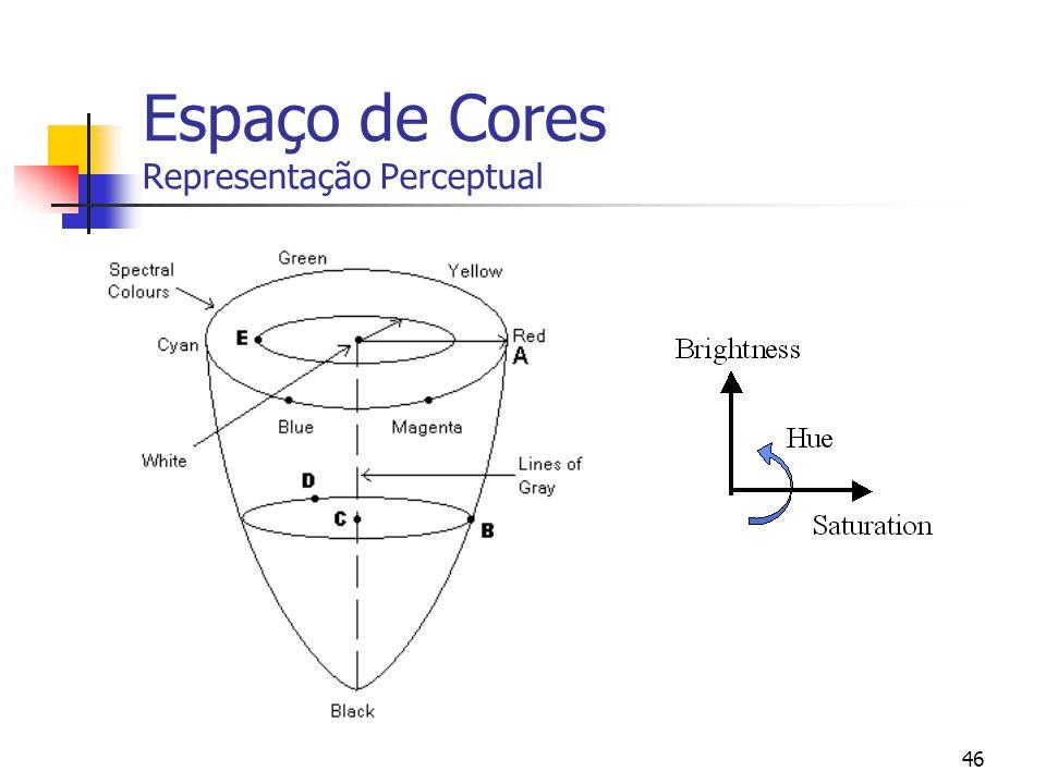 45 Espaço de Cores Representação Perceptual